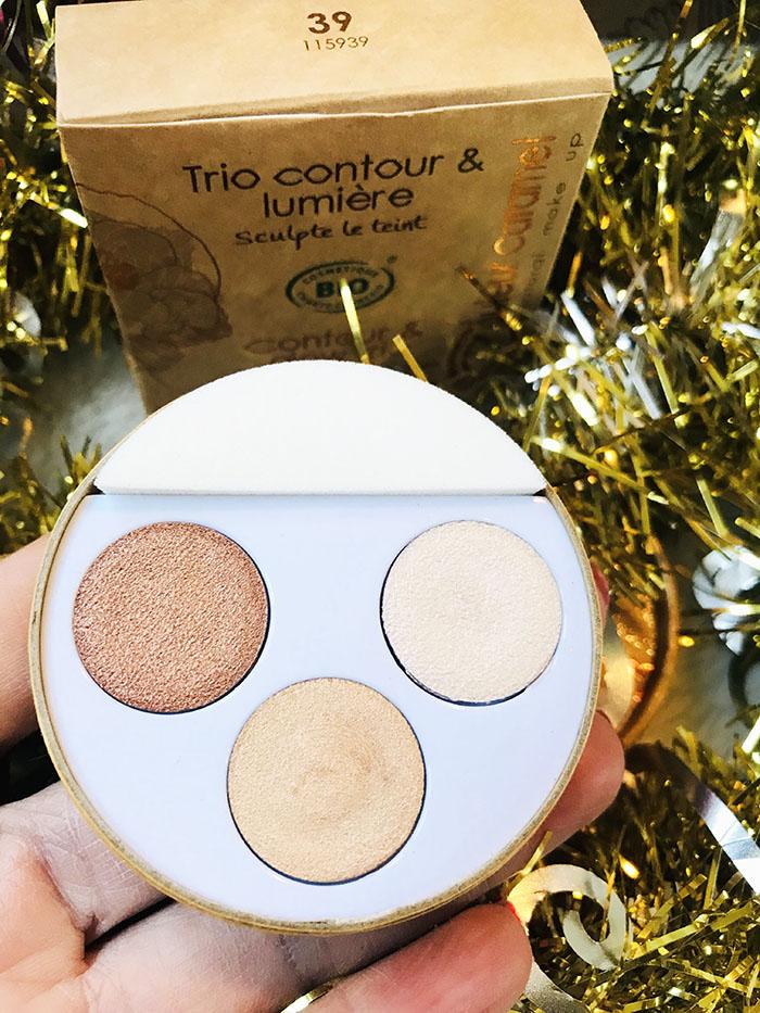 Box beauté Belle au naturel bio janvier 2021 Douceur hivernale  Trio sublimateur Couleur caramel Avis bulles de tests chez Florette