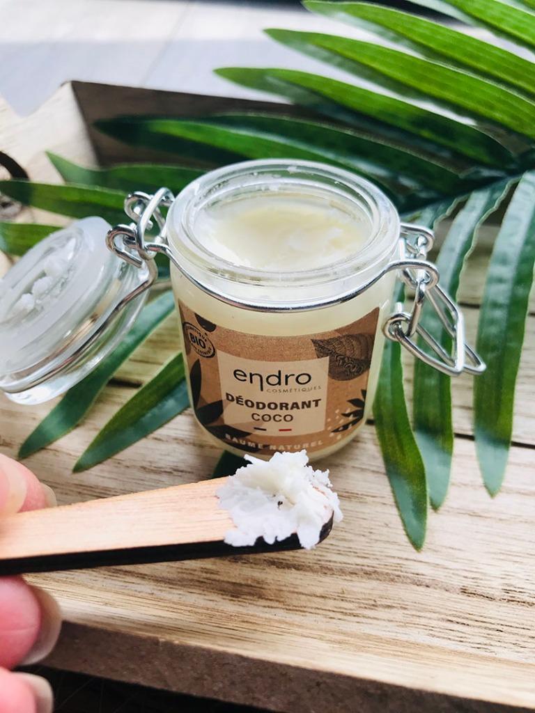 Déodorant baume coco Endro disponible sur E-shop Onbulle