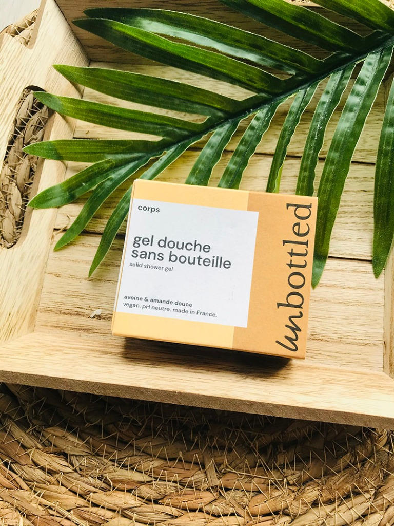 Gel douche Unbottled disponible sur E-shop Onbulle