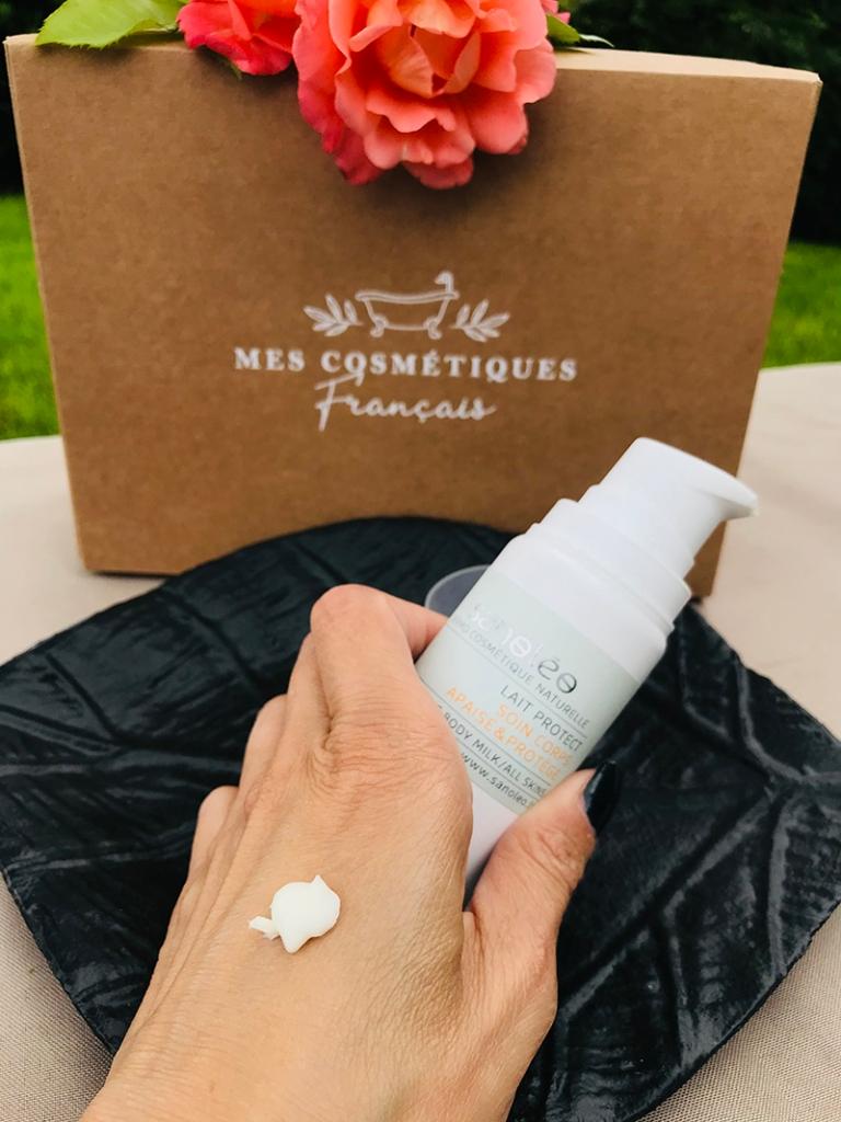 Mes-cosmétiques-français_avis_bullesdetestschezflorette-coffret-Occitanie-Lait-corps-Sanoléo