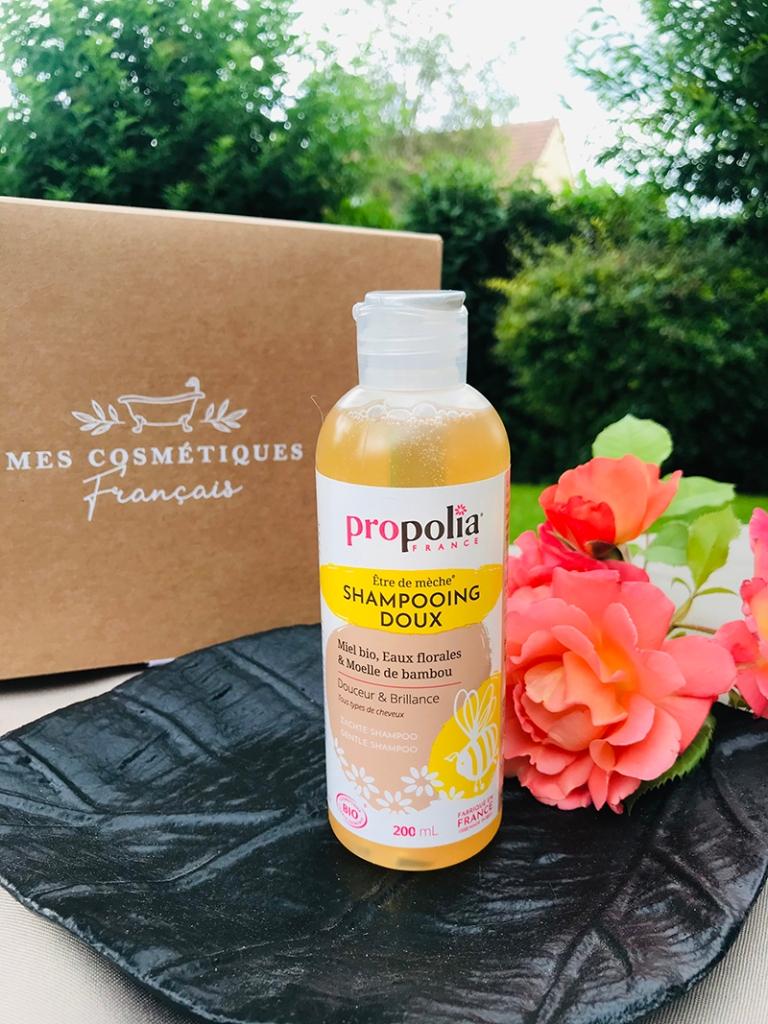 Mes-cosmétiques-français_avis_bullesdetestschezflorette-coffret-Occitanie-shampoing-Propolia